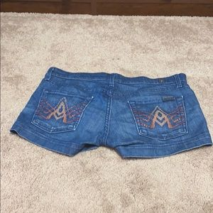 Jean shorts with Swarovski crystals